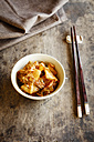Fresh house made kimchi with chopsticks - EVGF03224
