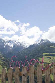 Italy, Trentino-Alto Adige, Passeier Valley, word enjoy in alpine landscape - PSTF00037
