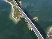 Germany, Bavaria, Sylvenstein dam and bridge - STCF00323
