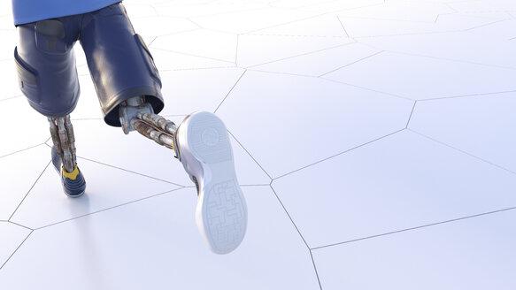 Robot running, 3d rendering - AHUF00379