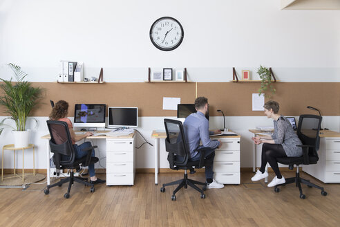 Colleagues working in modern office - FKF02366