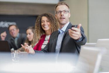 Business meeting in boardroom - ZEF14004