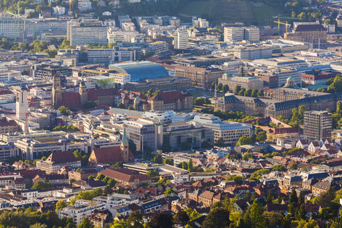 Germany, city view of Stuttgart at sunset - WDF04037