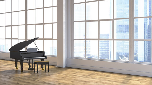 Grand piano in concert hall - UWF01246
