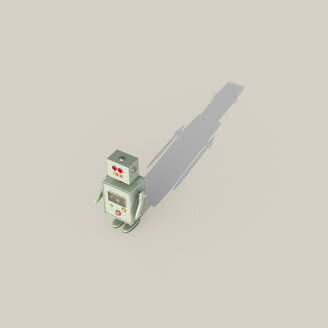 3D Rendering, Single robot casting shadow - UWF01249