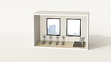 Model of a fitness room in a box - UWF01255