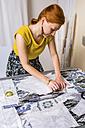 Fashion designer working on template - MGIF00057