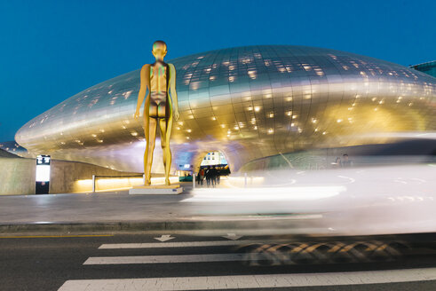 South Korea, Seoul, Dongdaemun Design Plaza by night - GEM01714