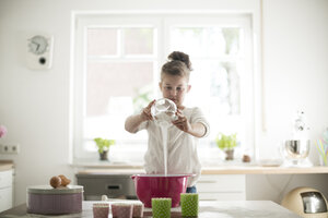 Little girl baking in the kitchen - MOEF00031
