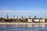 Poland, Warsaw, city skyline from Vistula river - ABOF00211