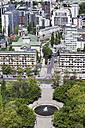 Poland, Warsaw, cityscape with Swietokrzyski Park and buildings around Grzybowski Square - ABOF00229