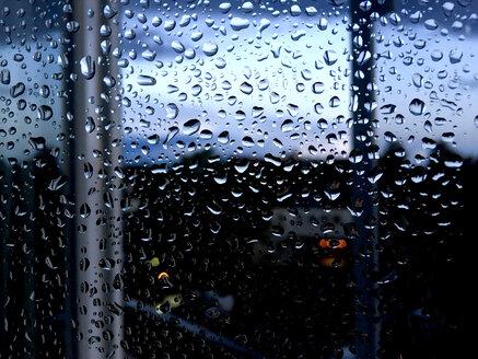 Raindrops on pane of glass - JTF00824
