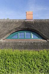Germany, Mecklenburg-Western Pomerania, Rugen, Thatched roof near Gross Zicker - GFF00993