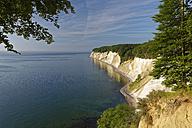 Germany, Mecklenburg-Western Pomerania, Jasmund National Park, Chalk coast at the Baltic Sea - GFF00999