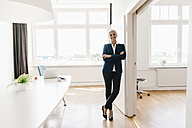 Portrait of confident businesswoman standing in office - KNSF01778