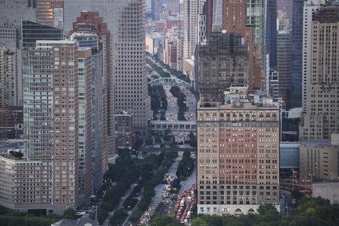 USA, New York City, traffic, aerial view - BCDF00283