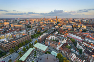 Germany, Hamburg, cityscape in the evening - RJF00704