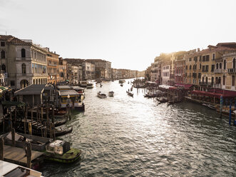 Italy, Venice, Canale Grande at evening twilight seen from Rialto Bridge - SBDF03251