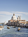 Italy, Venice, view to Canal Grande and Santa Maria della Salute church seen from Ponte dell'Accademia - SBDF03254