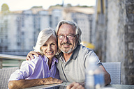 Senior couple enjoying their a city break - ZEF14157