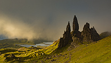 UK, Scotland, Isle of Skye, The Storr at cloudy day - FCF01240