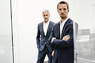 Portrait of two businessmen in office - KNSF02194