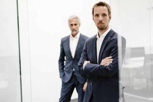 Portrait of two businessmen in office - KNSF02194