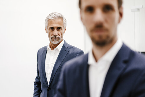 Portrait of two businessmen in office - KNSF02197