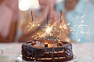 Chocolate birthday cake with sprklers - ZEF14252