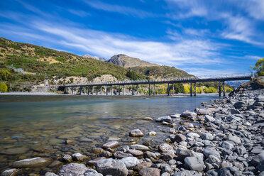 New Zealand, South Island, Canterbury Region, Arthur's Pass National Park, Waimakairi River, Mt. White Bridge - STSF01275