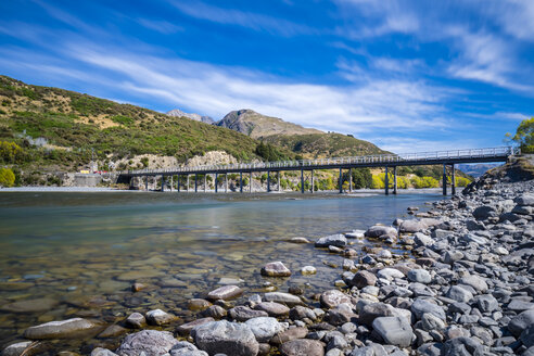 New Zealand, South Island, Canterbury Region, Arthur's Pass National Park, Waimakairi River, Mt. White Bridge - STSF01275