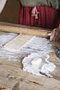 Close-up of woman preparing dough - ALBF00138