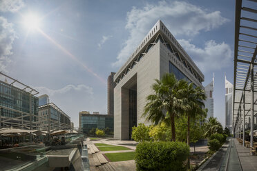 United Arab Emirates, Dubai, Gate Building in the Dubai international Financial Centre - NKF00473