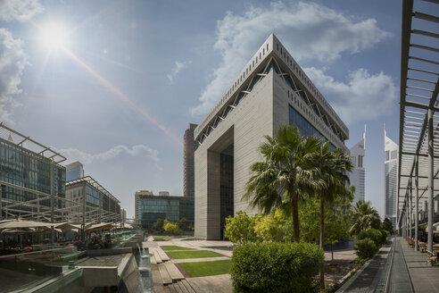 United Arab Emirates, Dubai, Gate Building in the Dubai international Financial Centre - NKF00473