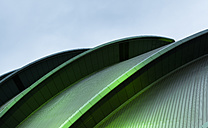 UK, Scotland, Glasgow, part of illuminated roof of Glasgow Science Centre - FC01262