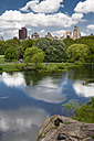 USA, New York City, Skyline with Central Park in spring - MAUF01212