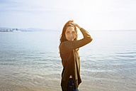Portrait of beautiful young woman at the sea - GIOF03029