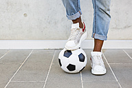 Man's feet with soccer ball - MGIF00088