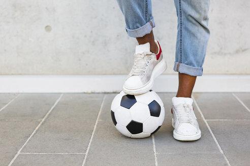 Man's feet with soccer ball - MGIF00088