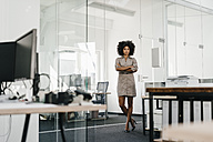Portrait of confident businesswoman in office - KNSF02315