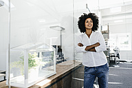 Portrait of young woman in office - KNSF02330