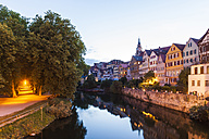 Germany, Tuebingen, view to the city with Neckar River in the foreground - WDF04085