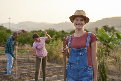 Portrait of smiling young farmer - PACF00077