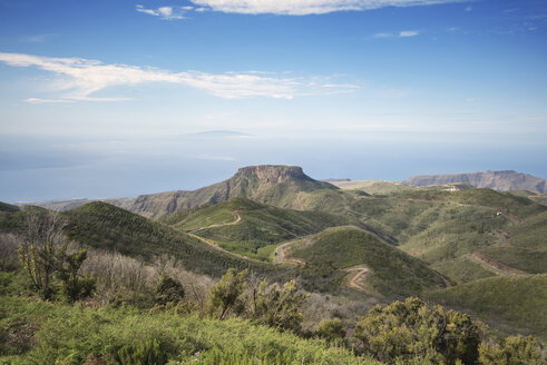 Spain, Canary islands, La Gomera with  El Hierro island in background - DHCF00137