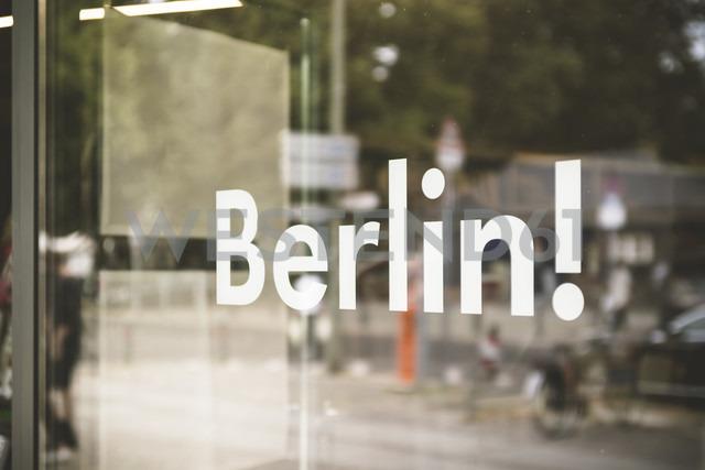 Germany, Berlin, window display with the word 'Berlin' - CHPF00417