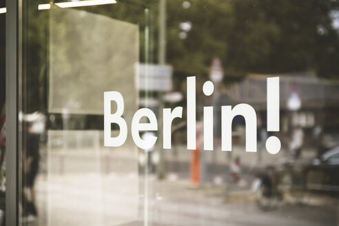 Germany, Berlin, window display with the word 'Berlin' - CHPF00417