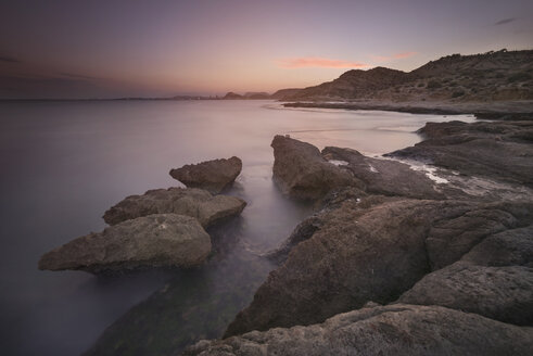 Spain Alicante, Rock coast at dusk - DHCF00146