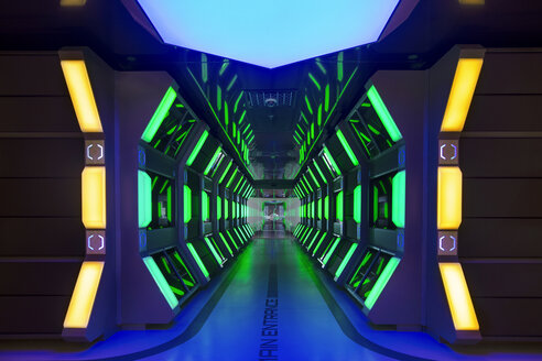 Futuristic corridor in modern office - ZEF14370