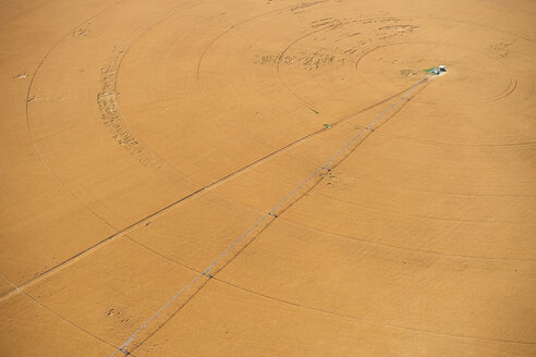 USA, Aerial of irrigated wheat field in Eastern Colorado, USA - BCDF00304