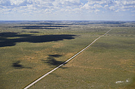 USA, Aerial photograph of Highway 59 south of Grover, Colorado - BCDF00322
